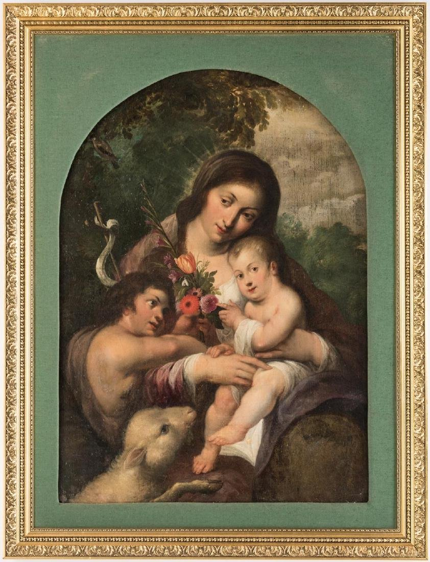 Continental School, Madonna and Child with John the