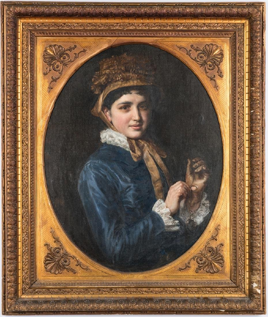 19th C. Portrait of a Lady with a Watch