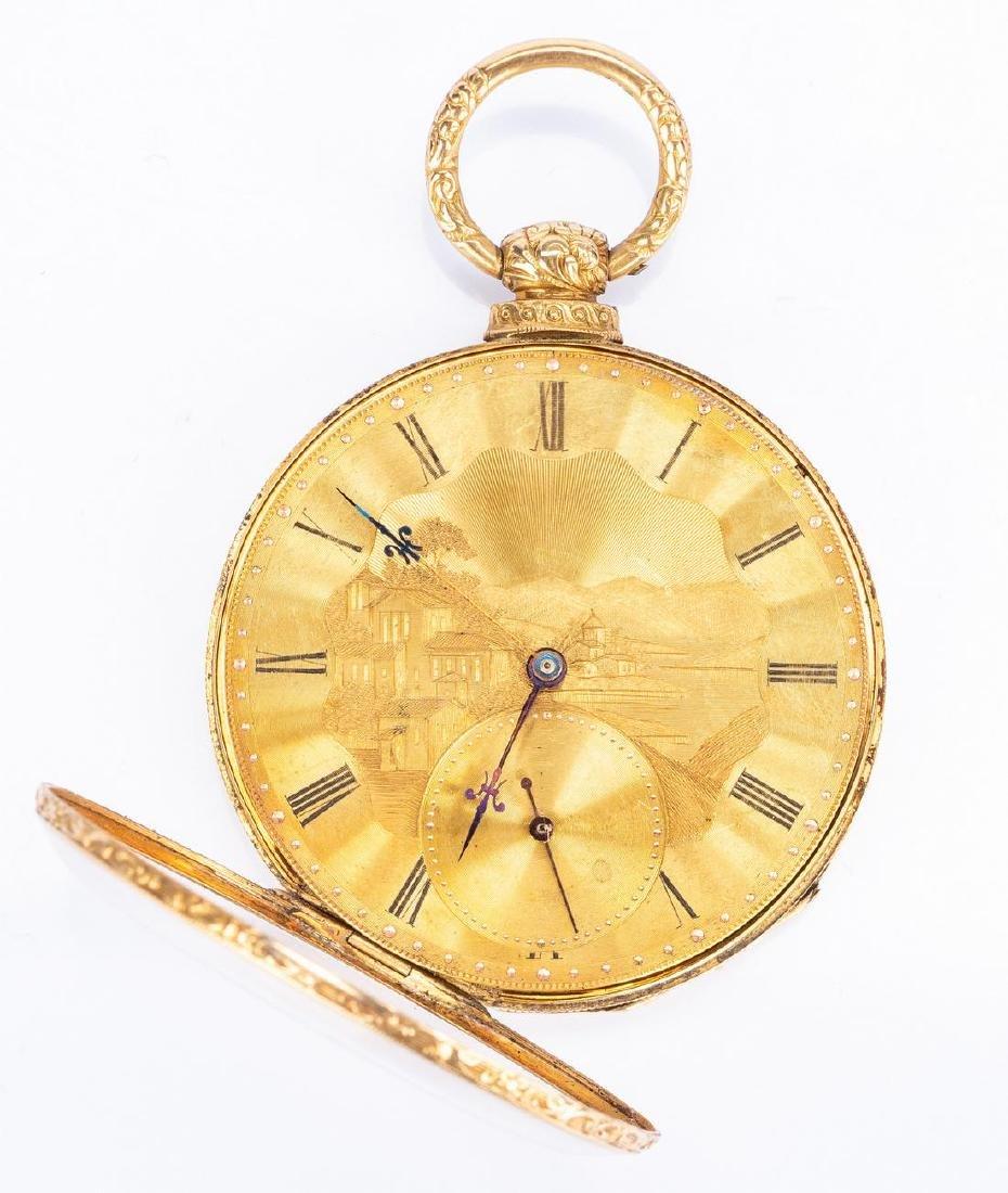 18k Arnold Adams Pocket Watch