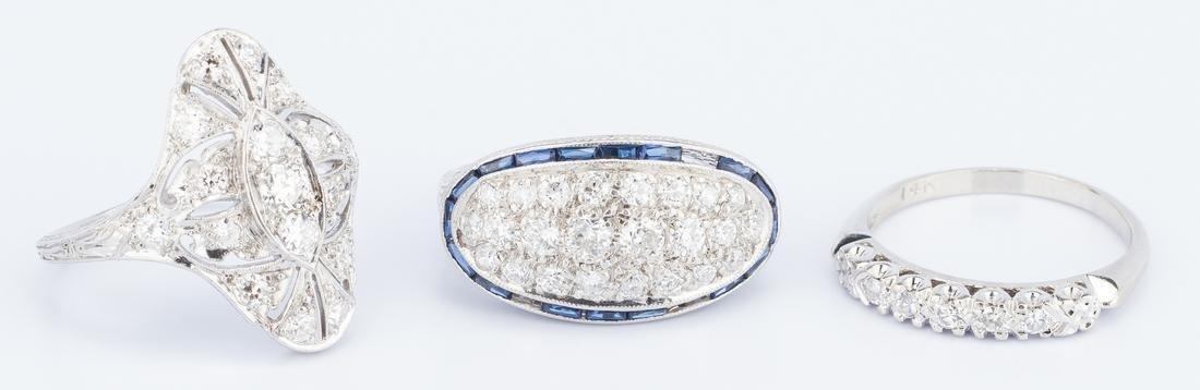 3 Vintage Diamond Rings incl. Art Deco