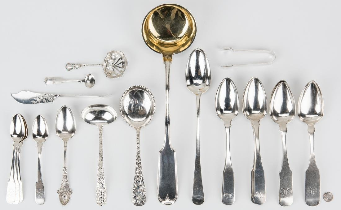 21 pcs Silver Flatware incl. Stuffing Spoon