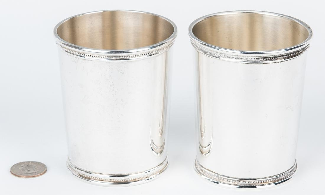 2 Scearce Presidential Silver Julep Cups