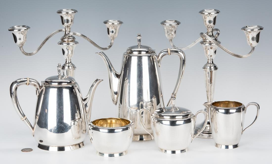 5-pc. Reed & Barton Sterling Tea Set & Pr. Gorham