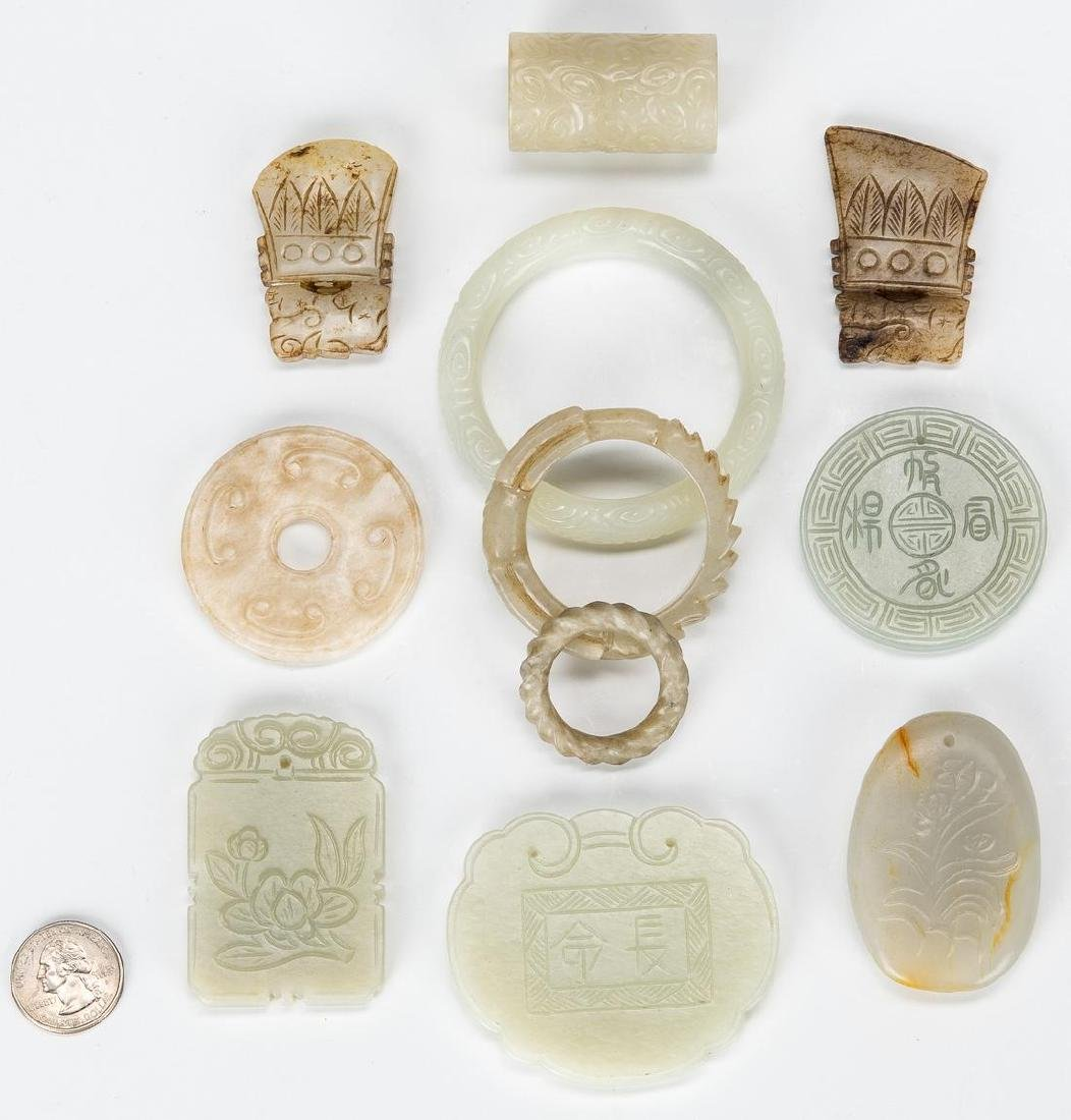 11 Chinese Carved Jade items