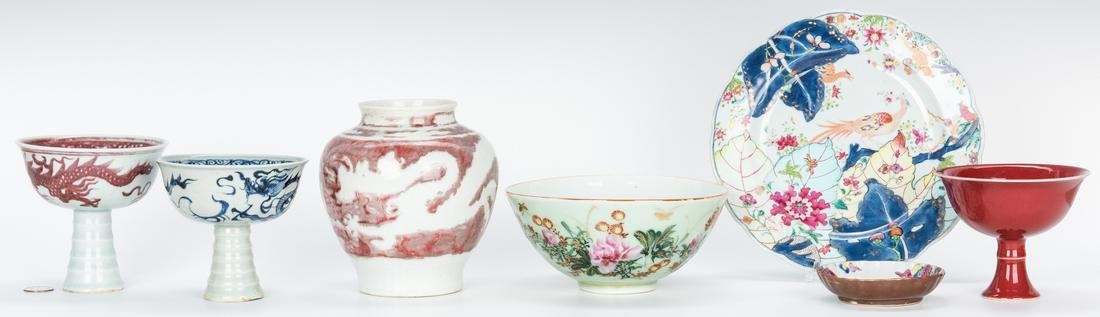 7 Asian Porcelain and Ceramic Items