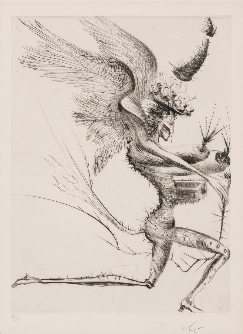 Salvador Dali Le Demon Aile Etching, 1/50
