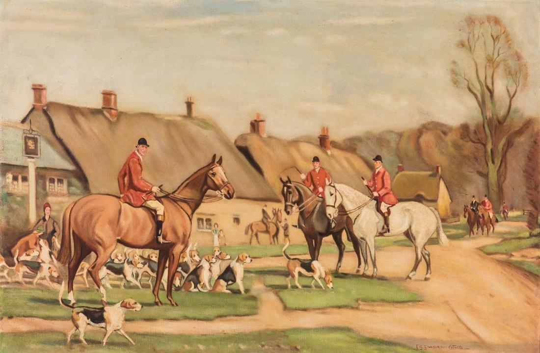 John Sanderson-Wells O/C, English Hunting Scene