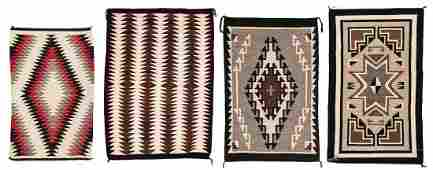 4 Navajo Rugs, Eye Dazzler & 2 Grey Hills
