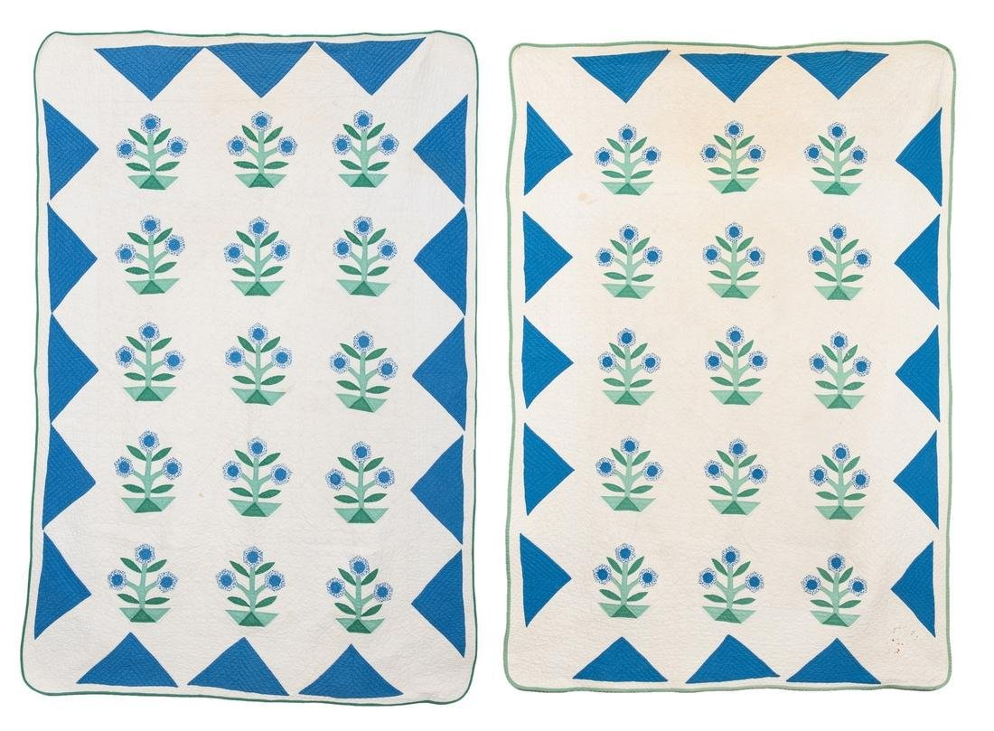 Pr. of East TN Appliqued & Pieced Quilts