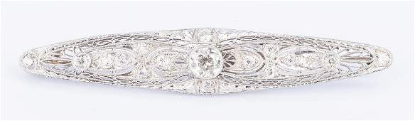 14k Antique Diamond Brooch/Pendant