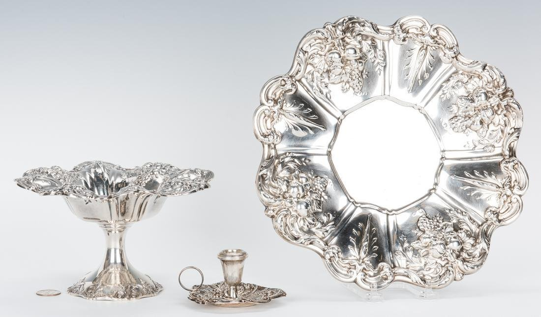 3 pcs. Sterling Silver, incl. 2 Francis I Serving Items