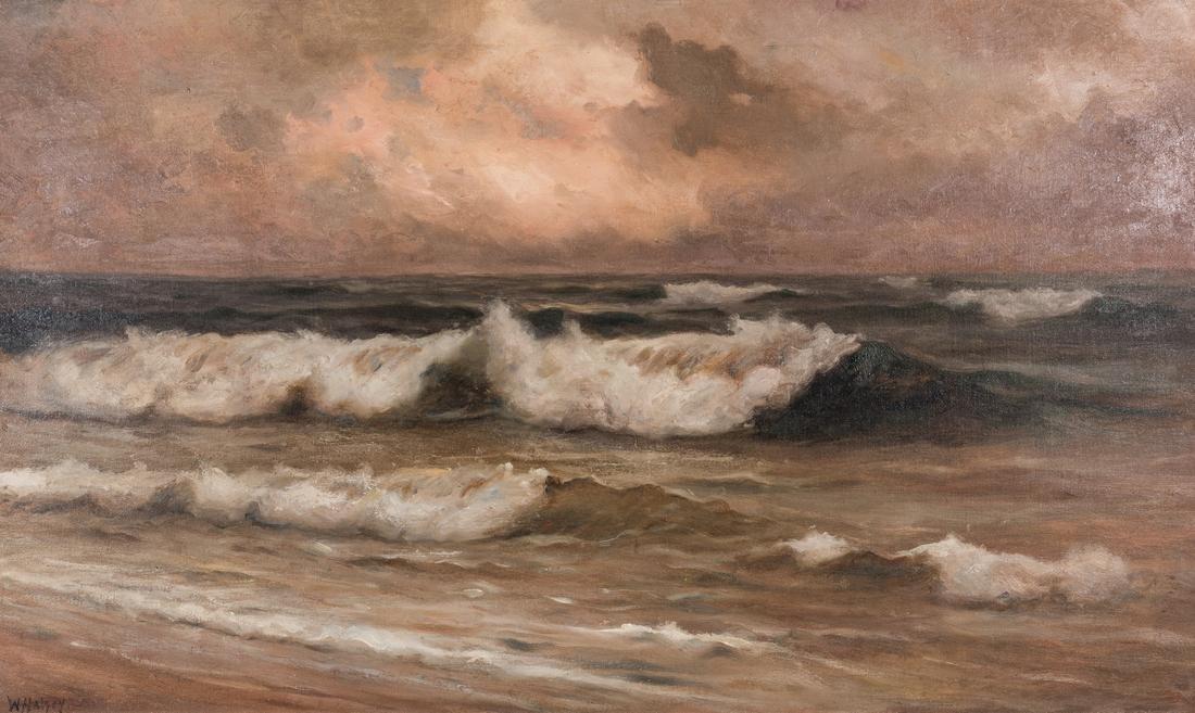 William Halsey O/C, Crashing Waves Seascape