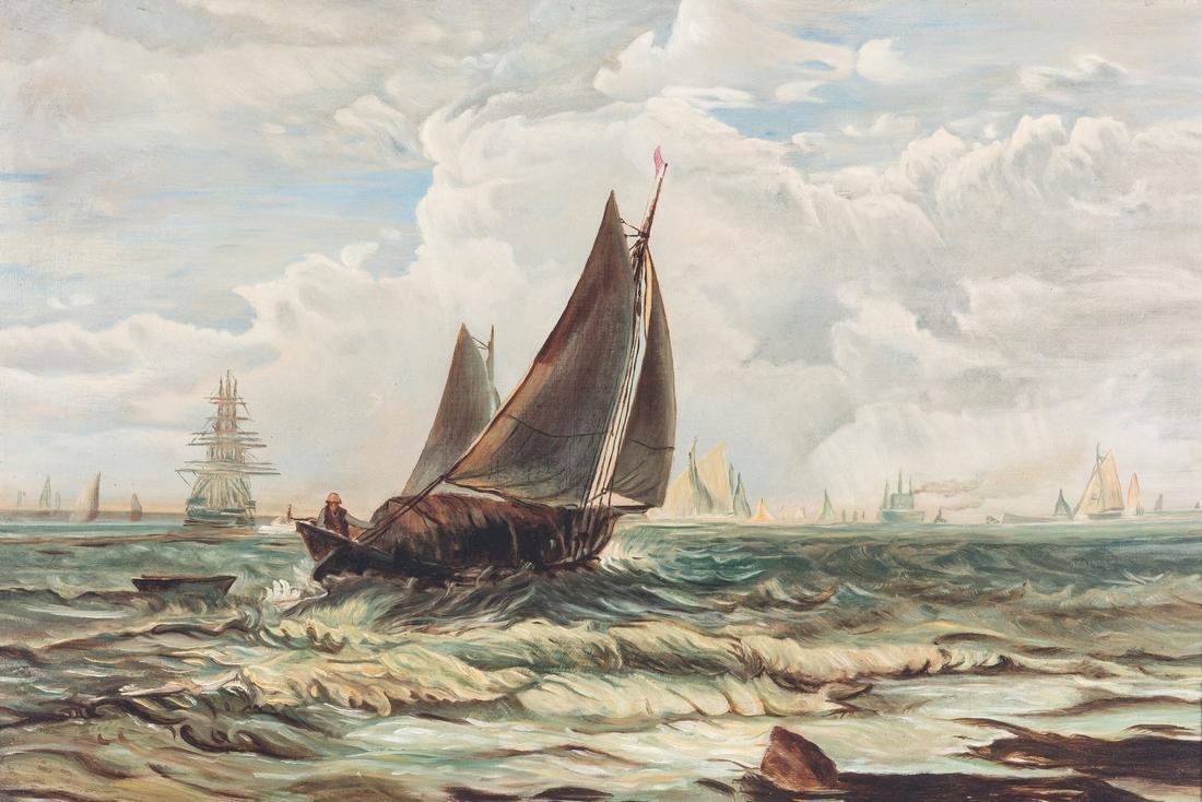 American School O/C, Marine Painting