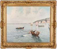 Franco Ruocco OC Italian Harbor Scene