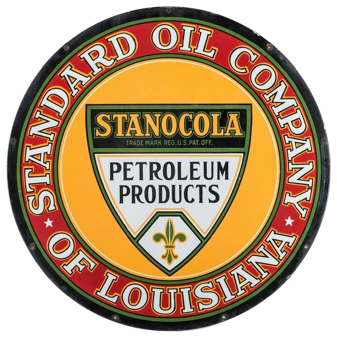Stanocola Standard Oil Company Enameled Advertising