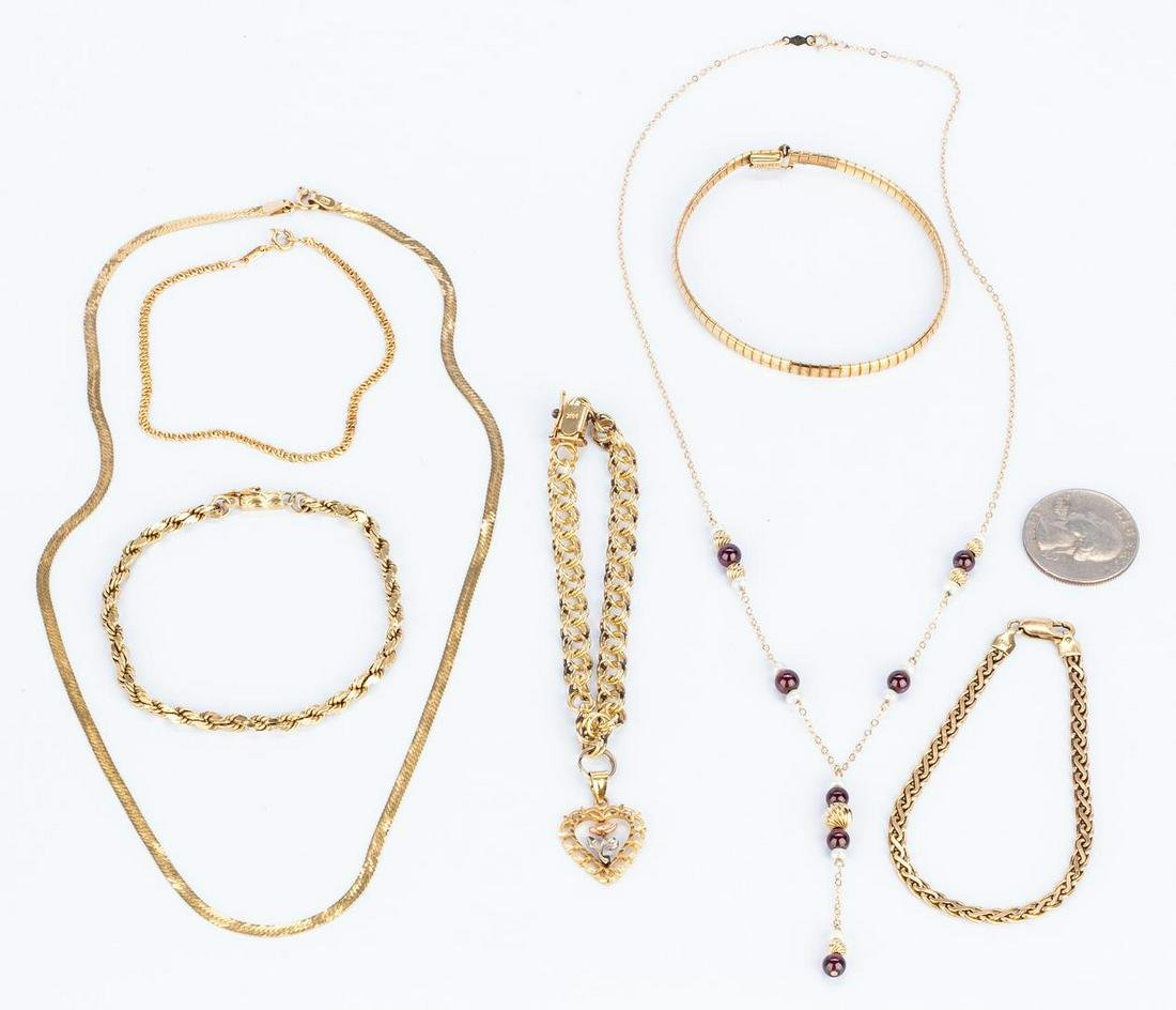 Group seven 14k Gold Jewelry Items