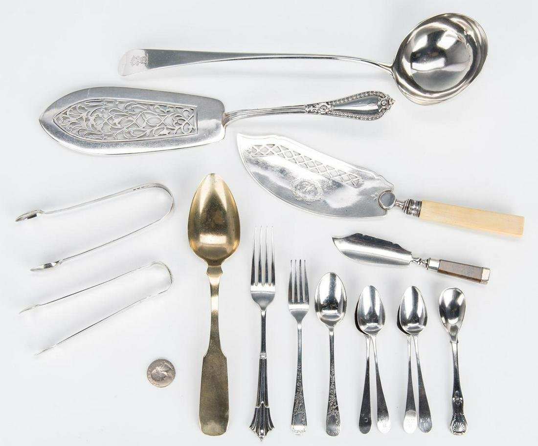 15 pcs. Assorted British Silver, incl. Bateman