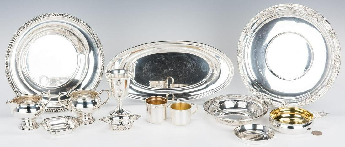 13 pcs. Assorted Sterling Table Items