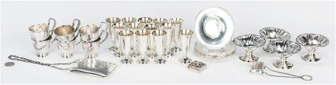 Assorted Sterling Silver items 31 pcs