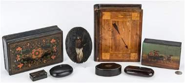 8 American & European Decorative Wood Items