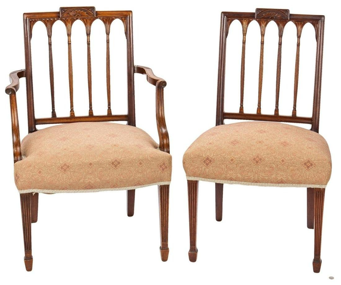 2 American Federal Square-Back Chairs