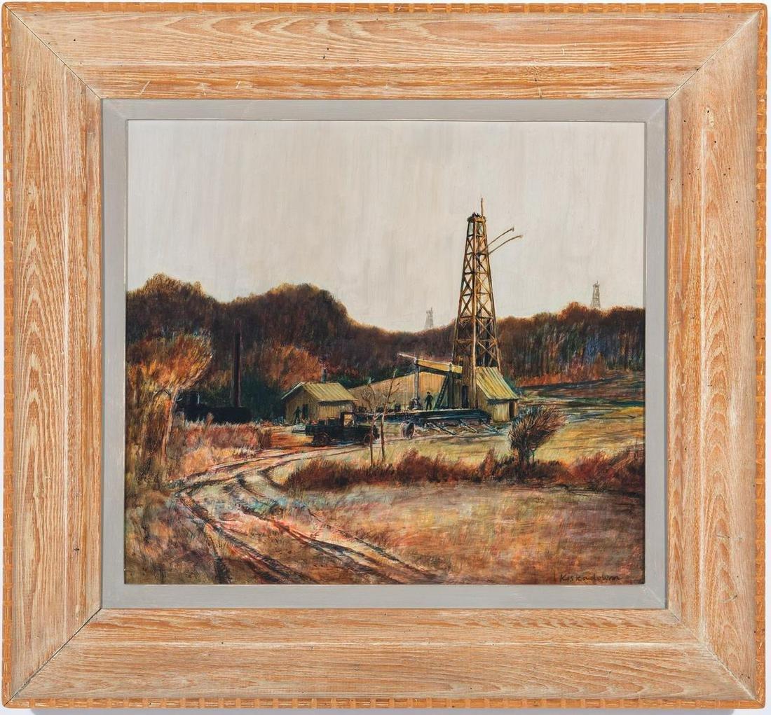 Robert Kiskadden O/B, Landscape with Oil Well