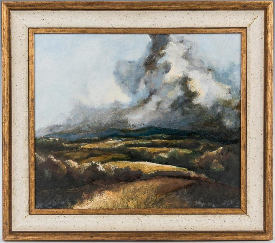 American School O/B Landscape Painting