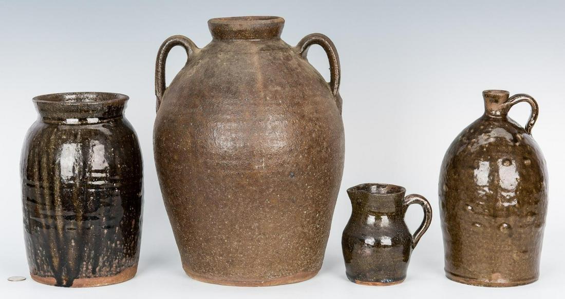 4 NC Stoneware Pottery Items