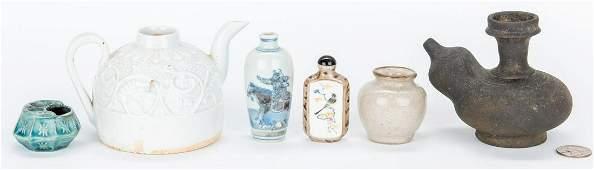 6 Assorted Asian Ceramic Items