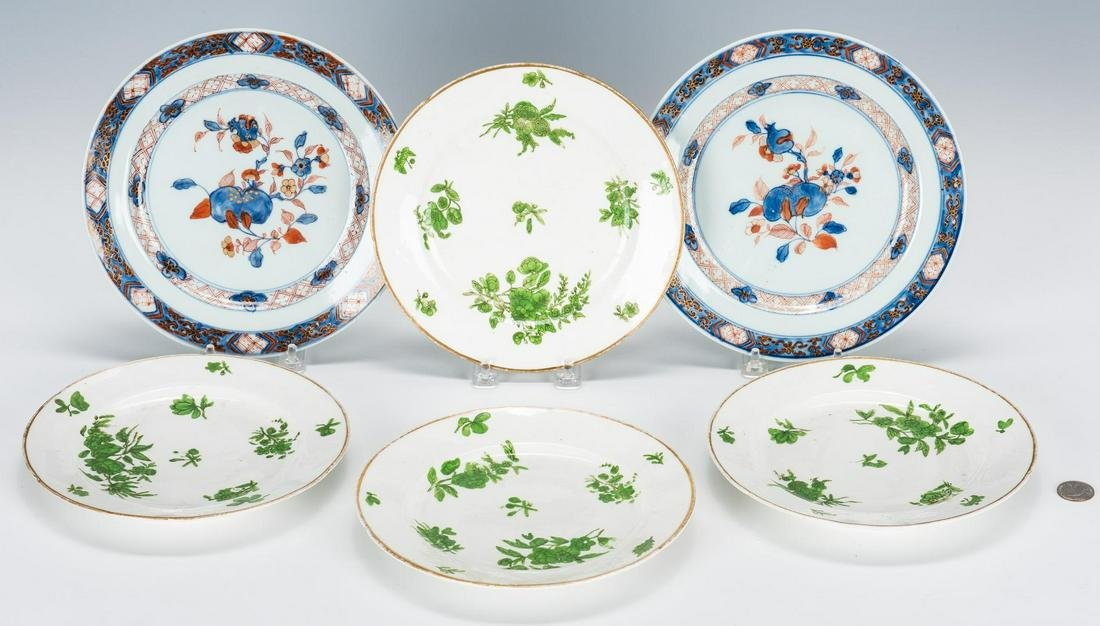 Chinese & English Porcelain Plates, 6 total