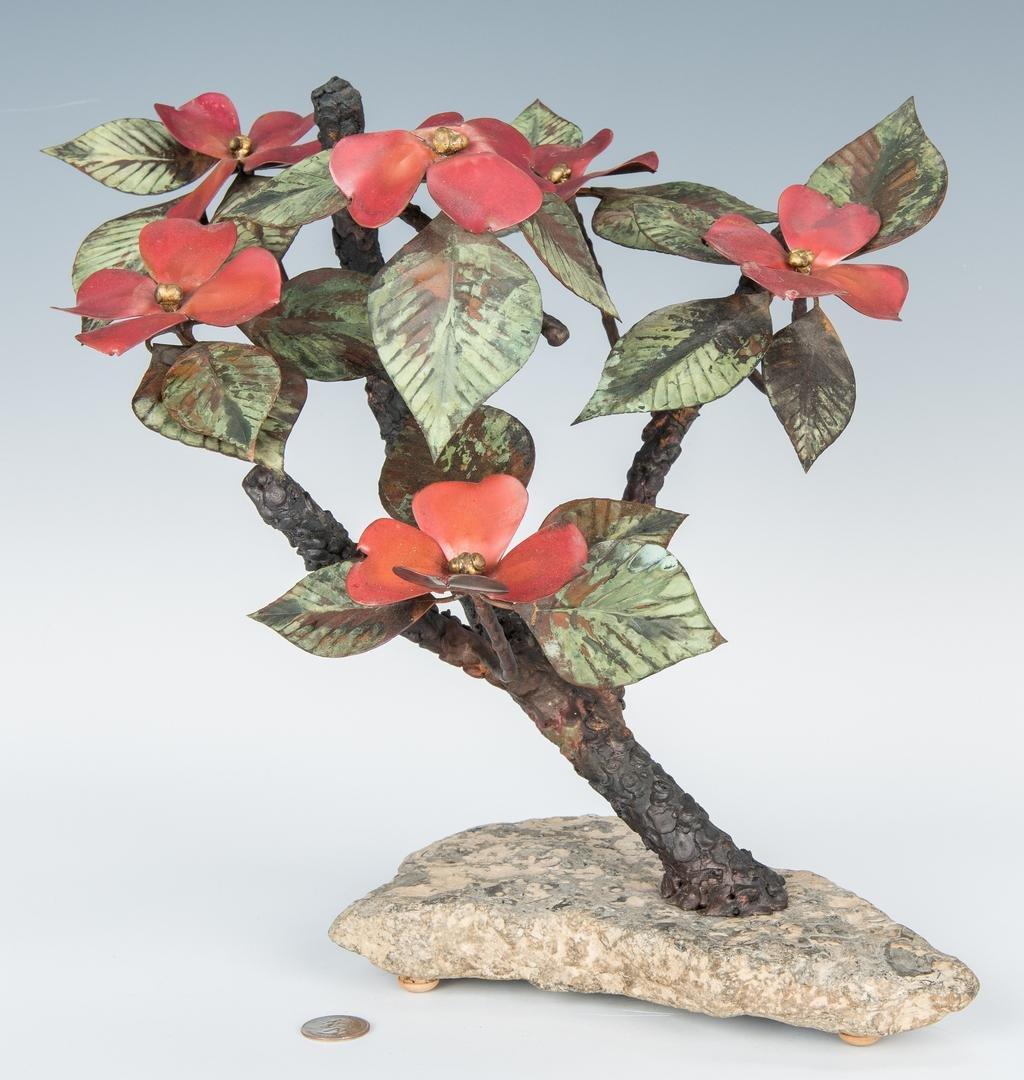 John Steck Bronze Floral Sculpture