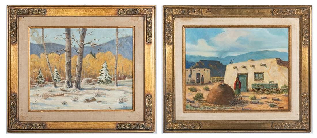 2 Chester Wills Acrylic Landscapes