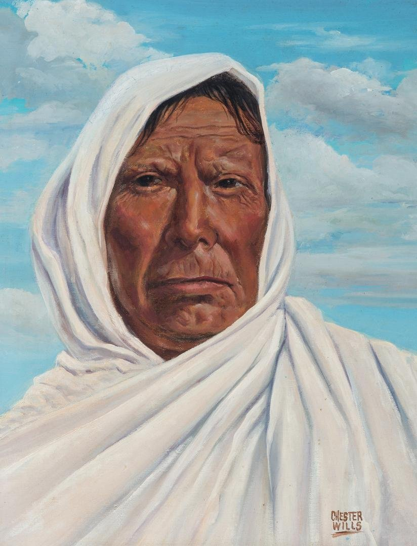 Chester Wills Portrait of a Native American Woman