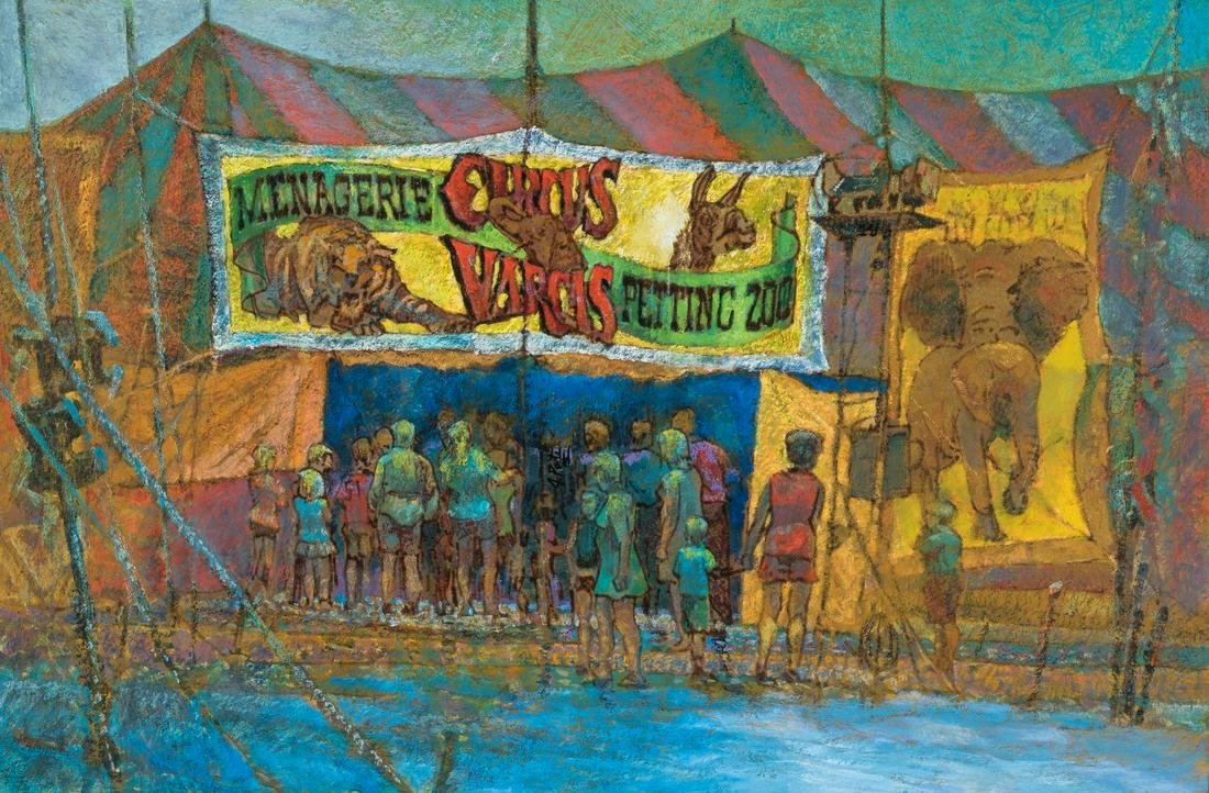 "John Poti O/B Circus Painting, ""After the Rain"""