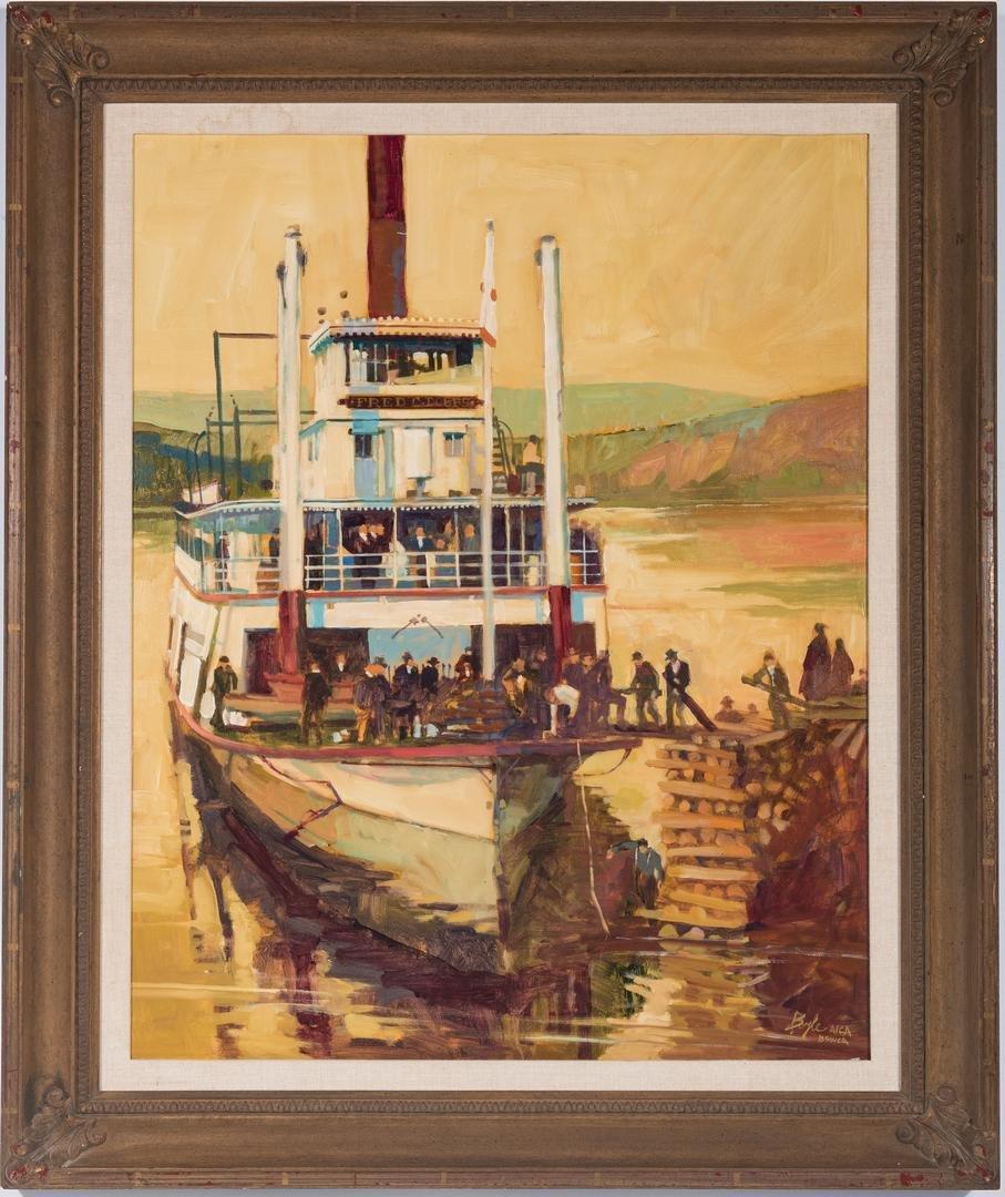 James Neil Boyle O/C, Steamboat Scene