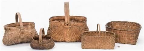 5 East TN Split Oak Baskets