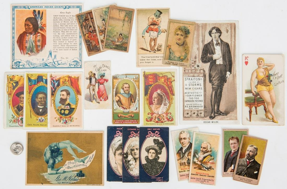 Large Collection of 410 Tobacco Trade Cards