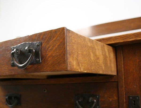 342: Gustav Stickley oak sideboard, number 814. - 4
