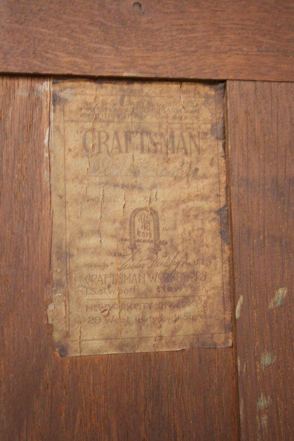 342: Gustav Stickley oak sideboard, number 814. - 5