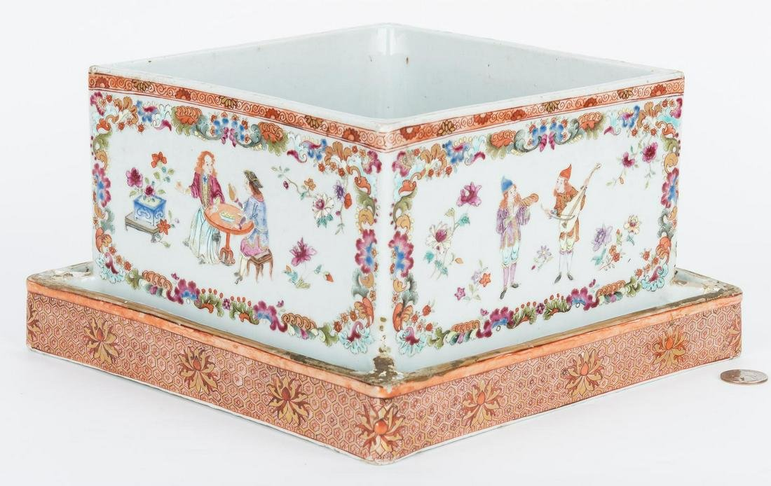 Chinese Export Famille Rose Porcelain Planter