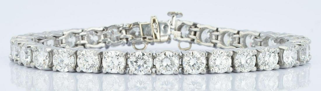 Platinum Diamond Tennis Bracelet, 13 CTW