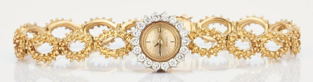 18K Ladies Omega Wrist Watch
