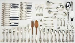 117 pcs Wallace Grand Baroque Sterling Silver Flatware