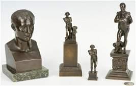 Four Napoleon Related Bronzes