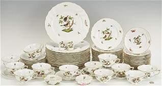 Herend Rothschild Bird China Service 69 pcs