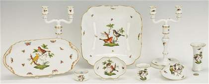 Herend Porcelain Serving Pieces  Accessories 13 items