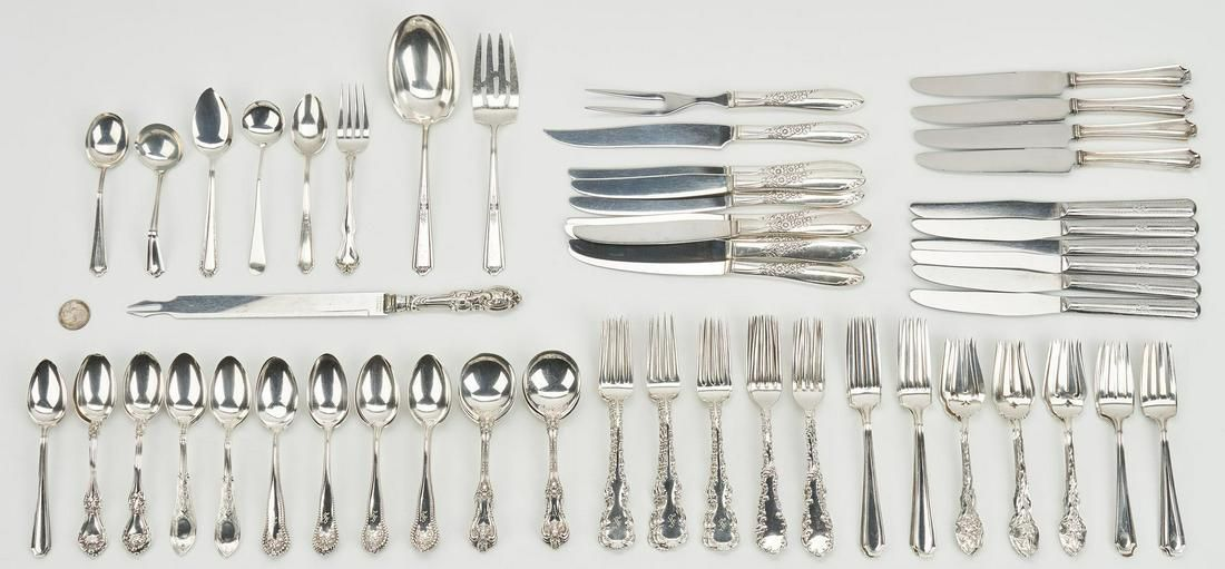 104 Pcs. Assorted Sterling Flatware inc. Alvin