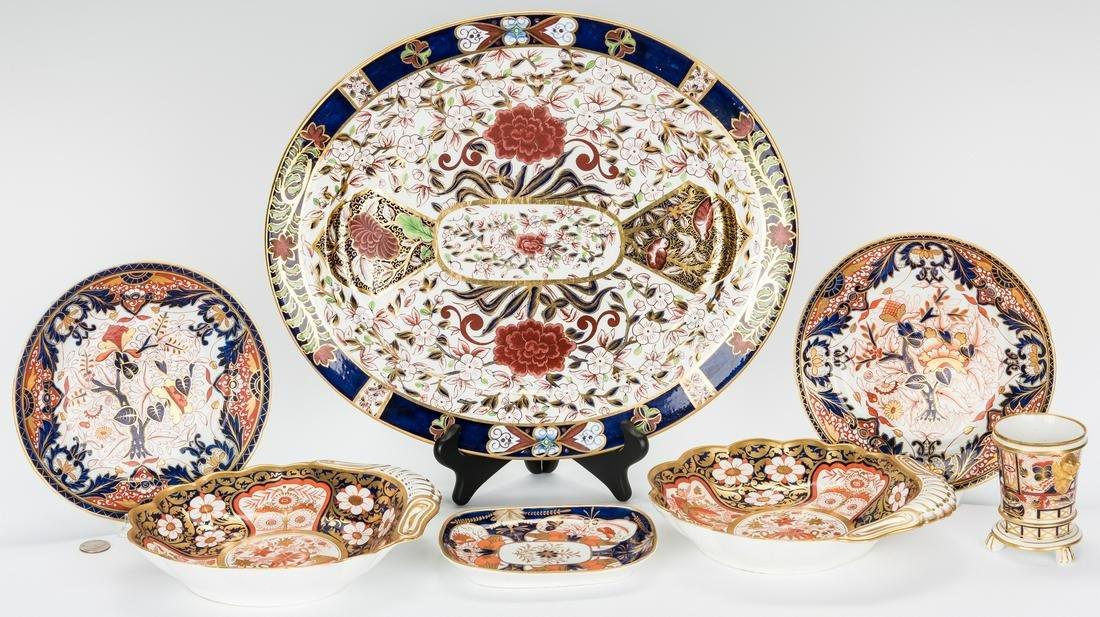 7 Pcs. English Porcelain, Worcester & Royal Crown Derby