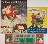3 U. S. World War II War Bonds Posters