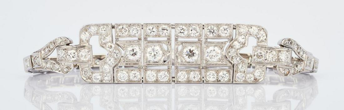 Art Deco 14K WG Diamond Bracelet